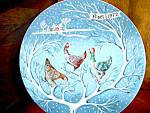 Click here to enlarge image and see more about item havlimo1k: Twelve Days of Christmas Plate Three French Hens