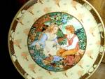 Click here to enlarge image and see more about item heinrich1p: Once Upon A Rhyme Plate Roses Are Red