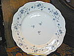 Click here to enlarge image and see more about item jhbg2e: Johann Haviland Blue Garland Bread & Butter Plate