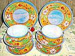 Click here to enlarge image and see more about item jlwa2l: Lusterware 12 Piece Cake Set