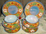 Click here to enlarge image and see more about item jlwa2s: Lusterware 12 Piece Cake Set
