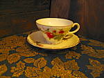 Click here to enlarge image and see more about item jmosr2d: Japan Moss Rose Cup and Saucer Set