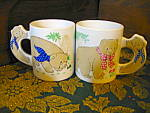 Click here to enlarge image and see more about item kccw11d: Boy/Girl Bear Coffee Mugs