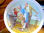 Click here to enlarge image and see more about item kjccp3c: The Cookie Tasting Grandparents Collector Plate
