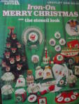 Click here to enlarge image and see more about item LA299e: Leisure Arts Iron-On Merry Christmas #299