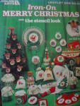 Click here to enlarge image and see more about item LA299k: Leisure Arts Iron-On Merry Christmas #299