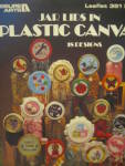 Click here to enlarge image and see more about item LA351f: Leisure Arts Jar Lids In Plastic Canvas #351