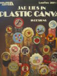Click here to enlarge image and see more about item LA351k: Leisure Arts Jar Lids In Plastic Canvas #351