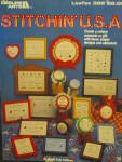 Click here to enlarge image and see more about item LA396e: Leisure Arts Stitchin' U.S.A. #396