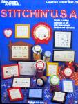Click here to enlarge image and see more about item LA396n: Leisure Arts Stitchin' U.S.A. #396