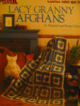 Click here to enlarge image and see more about item LA480l: Leisure Arts Lacy Granny Afghans   #480