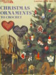 Click here to enlarge image and see more about item LA512h: Leisure Arts Christmas Ornaments to Crochet #512