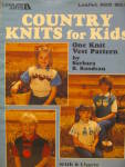 Click here to enlarge image and see more about item LA622f: Leisure Arts Country Knits For Kids  #622