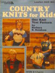 Click here to enlarge image and see more about item LA622m: Leisure Arts Country Knits For Kids  #622