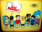 Click here to enlarge image and see more about item lbmed1j: Metal Wee Pals Kid Power Lunchbox