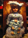 Click here to enlarge image and see more about item ledo6g: Porcelian Collectible Powder Blue Doll