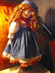 Click here to enlarge image and see more about item ledo7b: Angelina Porcilian Blue Denim Doll
