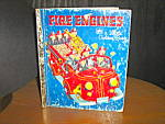 Click here to enlarge image and see more about item lgb10l: Little golden Book  Fire Engines Book
