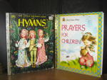 Click here to enlarge image and see more about item lgbr7g: Little Golden Book Prayers For Children & Book Of Hymns