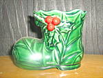 Click here to enlarge image and see more about item lhc9g: Lefton Green Holly Boot