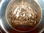 Click here to enlarge image and see more about item metalware1p: Snow White Golden Anniversary Plate