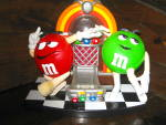 Click here to enlarge image and see more about item MM1g: M&M Rock'N Roll Cafe Dispenser