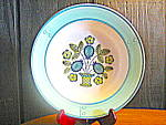 Click here to enlarge image and see more about item mpbp3i: Metlox Poppytrail Blueberry Provincial Bread Plate