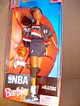 Click here to enlarge image and see more about item nbabeb12l: NBA Ethnic Barbie  Portland Blazers