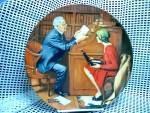 Click here to enlarge image and see more about item nrlecp10: Rockwell's Tenth Heritage Series Plate The Professor