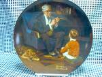 Click here to enlarge image and see more about item nrlecp7a: Rockwell's Sixth Heritage Series Plate The Tycoon