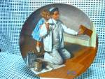 Click here to enlarge image and see more about item nrlecp8: Rockwell's Seventh Heritage Series Plate The Painter