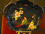 Click here to enlarge image and see more about item oriental3l: Vintage Noritake Handpainted One Handled Serving Dish