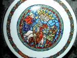 Click here to enlarge image and see more about item pbradex2v: Noel Vitrail Tidings of Great Joy  Plate