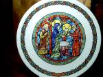 Click here to enlarge image and see more about item pbradex3o: Noel Vitrail The Purification Plate