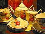 Click here to enlarge image and see more about item ppts1f: Porcelana Pozzani Jundiai Tea Set