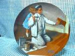 Click here to enlarge image and see more about item rockwp5q: Rockwell Limited Edition Plate The Painter