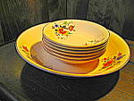 Click here to enlarge image and see more about item royalbw1i: Royal Beige Ware Salad Set by Royal China Co.