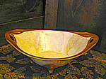 Click here to enlarge image and see more about item rstil1e: RS Tillowitz Silesia Footed Oval Opalescent Bowl