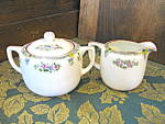 Click here to enlarge image and see more about item sbcrp3d: Japan Covered Sugar Bowl and Creamer Set