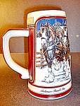 Click here to enlarge image and see more about item st2l: Cergmarte Anheuser Busch Holiday Stein.