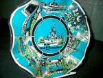 Click here to enlarge image and see more about item staspl12m: Souvenir Ruffled Dish Walt Disney World