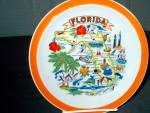 Click here to enlarge image and see more about item staspl7m: Collector State/Souvenir Plate Flordia