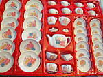 Click here to enlarge image and see more about item tdts4b: 41 Piece Children's Toy Porcelain Tea Set