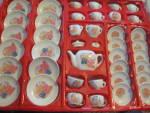 Click here to enlarge image and see more about item tdts4j: Vintage Children's Teddy Bear Porcelain Tea Set