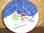 Click here to enlarge image and see more about item tpcs2i: Thomson Snowman Salad Plate