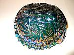 Click here to enlarge image and see more about item vcgz1b: Vintage Carnival Glass Pinwheel Saw-Tooth Edge Bowl