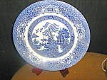Click here to enlarge image and see more about item veite1c: EIT English Willow Salad Plate