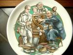 Click here to enlarge image and see more about item wcdp2c: World of Dickens  Micawber Denouncing Uriah Heep Plate