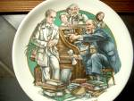 Click here to enlarge image and see more about item wcdp2f: World of Dickens  Micawber Denouncing Uriah Heep Plate