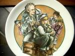 Click here to enlarge image and see more about item wcdp3d: World of Dickens Oliver Twist and Fagin Plate
